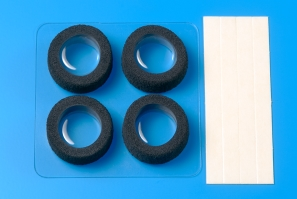 타미야,15388,TAMIYA, N RESTON SPONGE TIRES BLACK